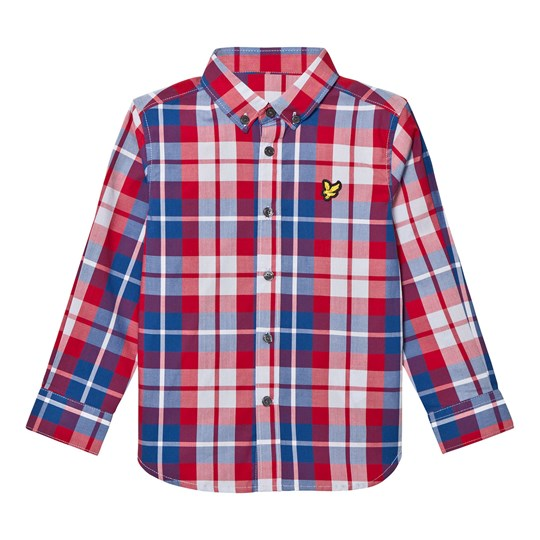 Lyle & Scott Royal Red Check Shirt Royal Red