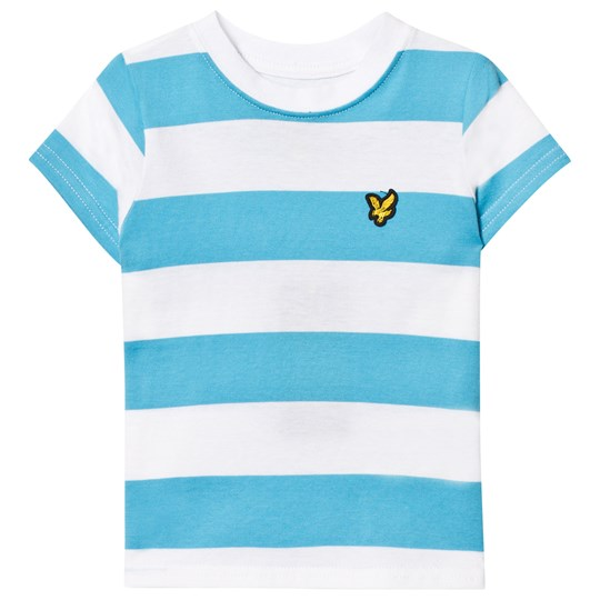 Lyle & Scott Norse Blue and White Striped Tee Norse Blue