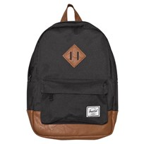 Herschel Road Trip Small Heritage Black/Tan synthetic Leather