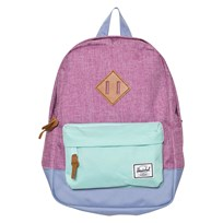 Herschel Fuschia Crosshatch Small Heritage Fuschia Crosshatch/Aruba Blue/Deep periwinkle/Tan