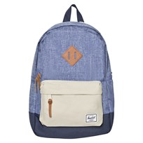 Herschel Limoges Crosshatch Large Heritage Limogas Crosshatch/Pelican/Navy/Tan pebbled Leathe