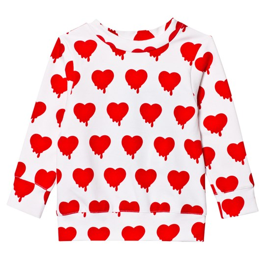 Caroline Bosmans Hope 2.0 Sweatshirt Fleece Heart White Heart White