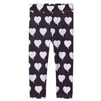 Caroline Bosmans Peace For President Printed Leggings Heart Black Heart Black