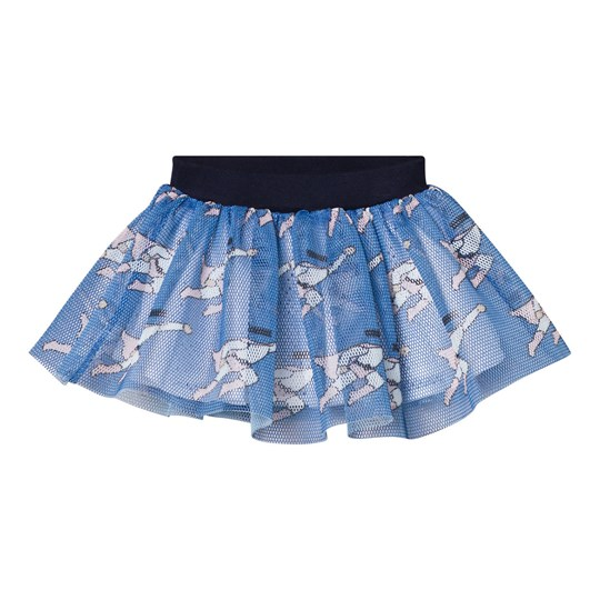 Caroline Bosmans Planet Smile Printed Mesh Skirt Superman Blue SUPERMAN BLUE
