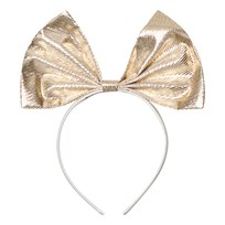 Hucklebones Gold Metallic Giant Bow Headband GOLD METALLIC