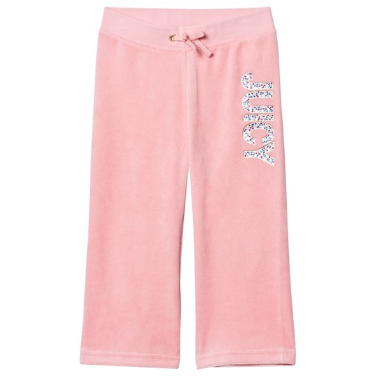 Juicy Couture Pale Peach Jewelled Glitter Velour Track Pants PARADISE FOUND