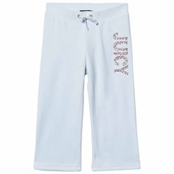 Juicy Couture Ice Blue Jewelled Glitter Velour Track Pants
