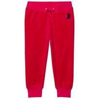Juicy Couture Red Velour Track Pants MUSE PINK