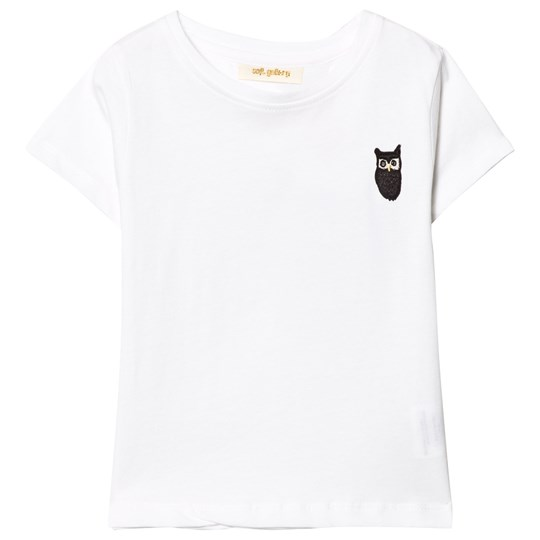 Soft Gallery Bass T-Shirt White White, Owl patch black