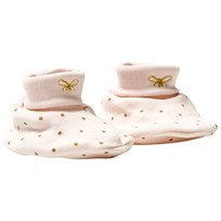 Livly Saturday Footies Baby Pink/gold Dots Baby Pink/gold Dots