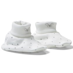 Livly Saturday Footies White/silver Dots