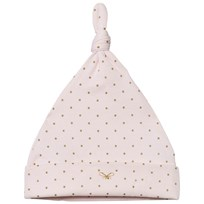 Livly Saturday Tossie Hat Baby Pink/gold Dots Baby Pink/gold Dots
