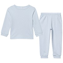 Livly 2 Piece Pajama Baby Blue/silver Dots Baby Blue/white Dots
