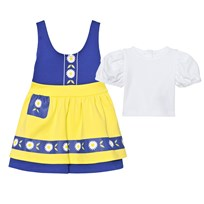 The Tiny Universe The Tiny Swede Girl Dress Blue & Yellow