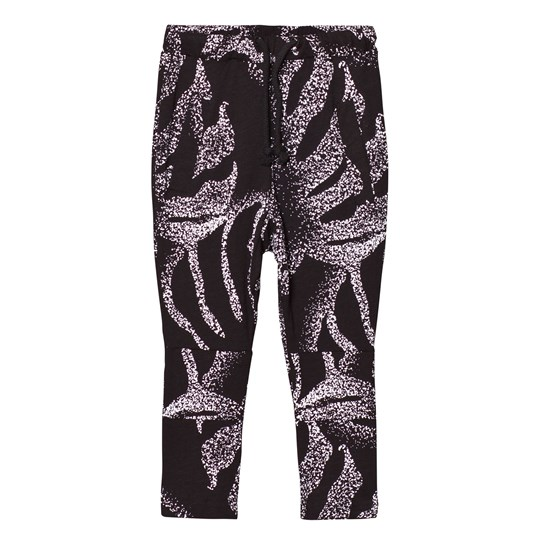 Someday Soon Montego Pants Black Palm Print Black Multicol