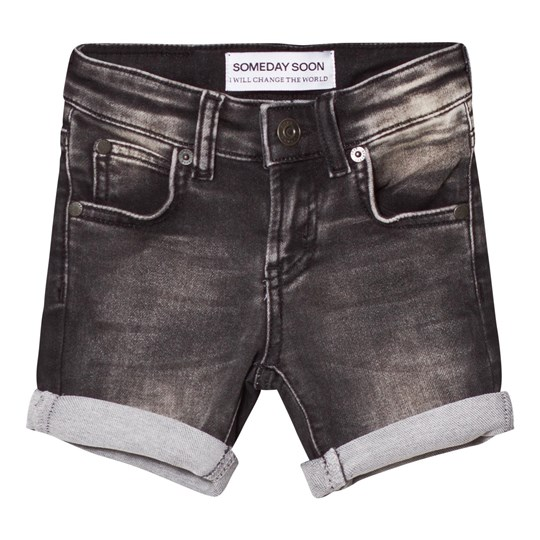 Someday Soon Carl Denim Shorts Washed Bla Washed Bla