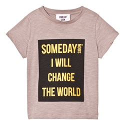 Someday Soon Someday T-Shirt Brown