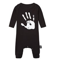 NUNUNU Hand Print Footed Baby Body Black Black