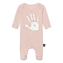 NUNUNU Hand Print Footed Baby Body Powder Pink Powder Pink