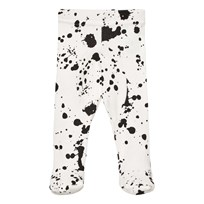 NUNUNU Splash Footed Leggings White White