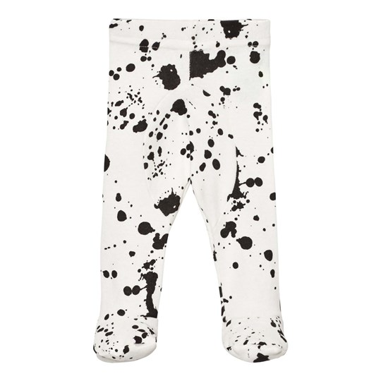 NUNUNU Splash Leggings Footie White White