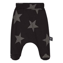 NUNUNU Star Baggy Footed Leggings Black Black
