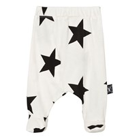 NUNUNU Star Baggy Footed Leggings White White