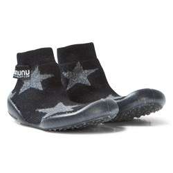 NUNUNU Star Collegien Slippers Black