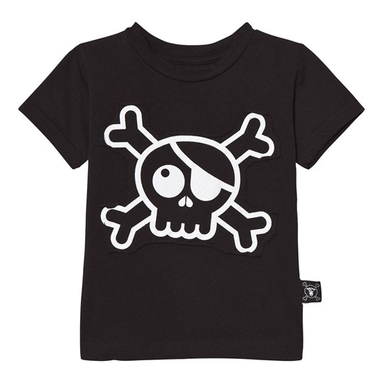 NUNUNU Skull Patch T-shirt Black Black
