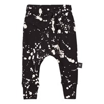 NUNUNU Splash Baggy Pants Black Black