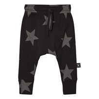 NUNUNU Star Baggy Pants Black Black