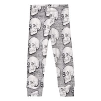NUNUNU Md Skull Leggings Grey Black