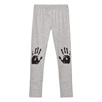 NUNUNU Knee Print Leggings Heather Grey Grey