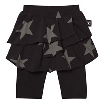 NUNUNU Star Leggings Skirt Black Black
