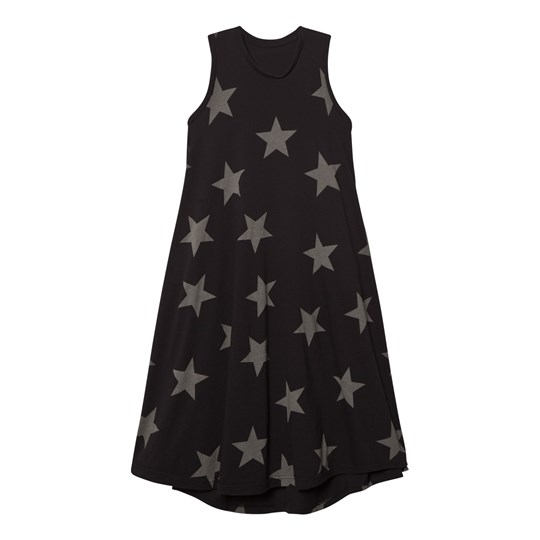 NUNUNU 362 Maxi Star Dress Black Black