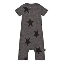 NUNUNU Star Playsuit Charcoal Charcoal