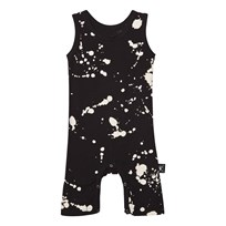NUNUNU Splash Playsuit Black Black