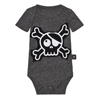 NUNUNU Skull Patch Body Charcoal Charcoal