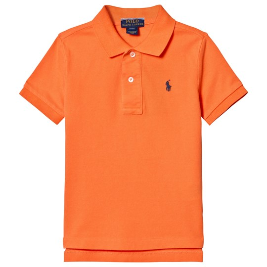 Ralph Lauren Cotton Mesh Polo Shirt Electric Melon 003