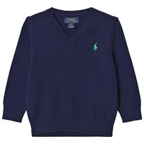 Ralph Lauren V-Neck Sweater Chateau Navy 001