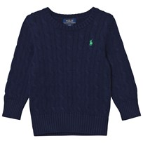 Ralph Lauren Cable-Knit Cotton Sweater Chateau Navy 001
