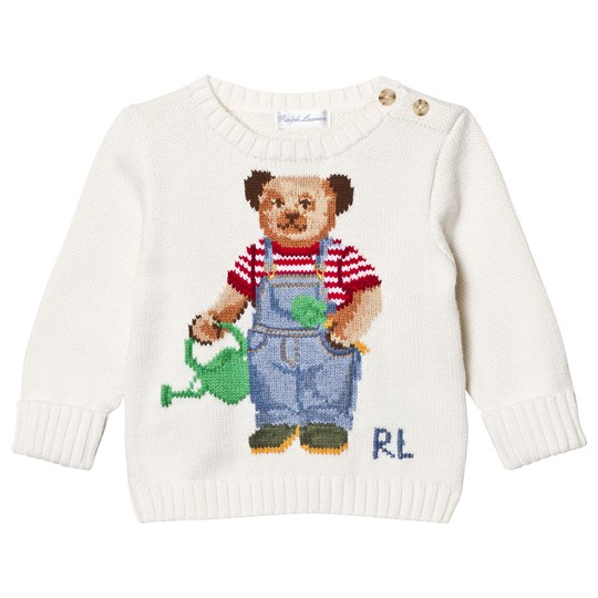 Ralph Lauren Polo Bear Cotton Sweater Warm White 001