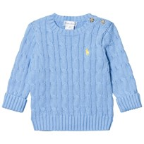Ralph Lauren Cable-Knit Cotton Sweater Sterling Blue 004