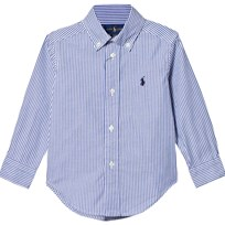 Ralph Lauren Blue and White Oxford Shirt 001