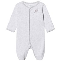 Ralph Lauren Striped Cotton Footed Baby Body Grey Heather Multi 001