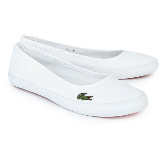 Lacoste Marthe Slip On Shoes White