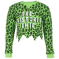 Moschino Kid-Teen Leopard M Like Moschino Print Tee Lime Green