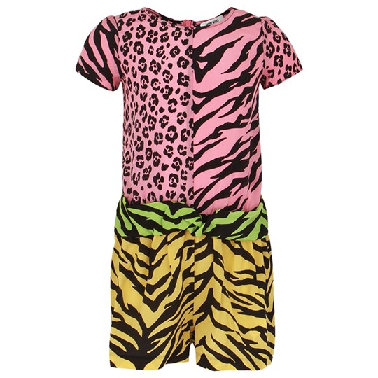 Moschino Kid-Teen Animal Print Romper Multi Colour