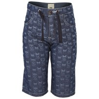 Monsters Print Lightweight Chambray Shorts