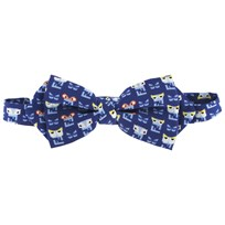 Fendi Monster Print Bow Tie Blue